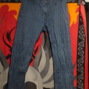 Blue Checkered Jean